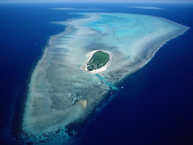 Heron Island airial view