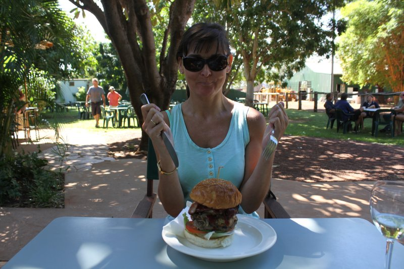 Kimberley Beef Burger at Drysdale River Station