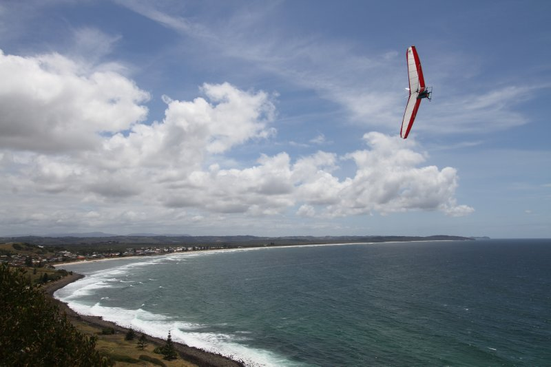 Lennox Head hang gliding
