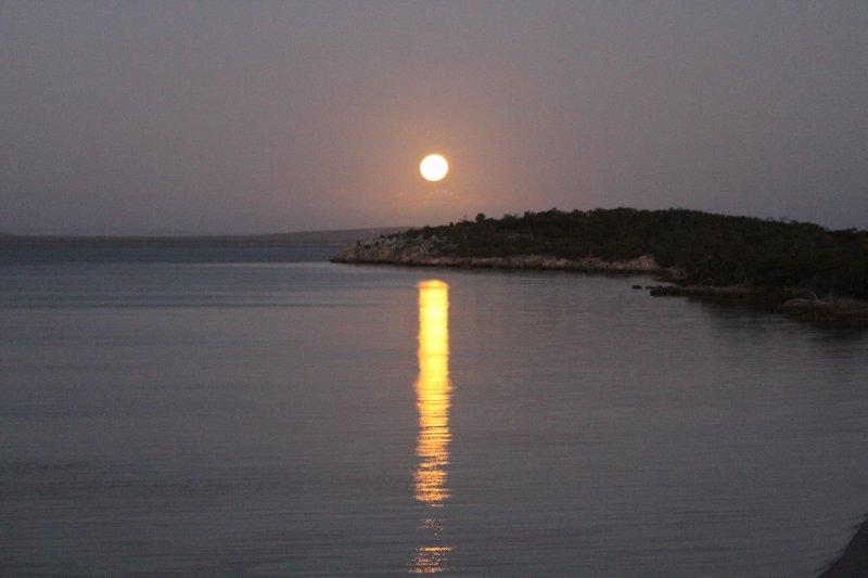 Moonrise over Port Douglas, Coffin Bay
