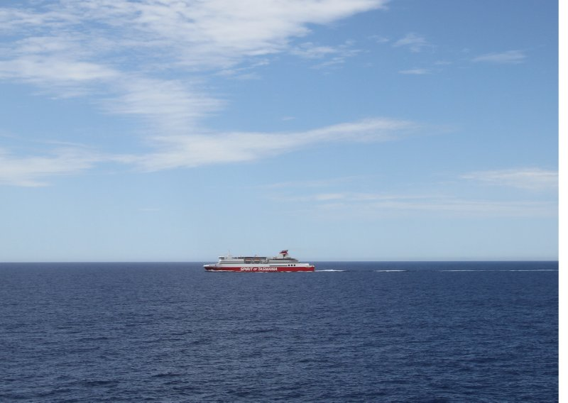 Spirit of Tasmania I on the Bass Strait