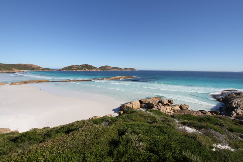 Splendid views over Lucky Bay