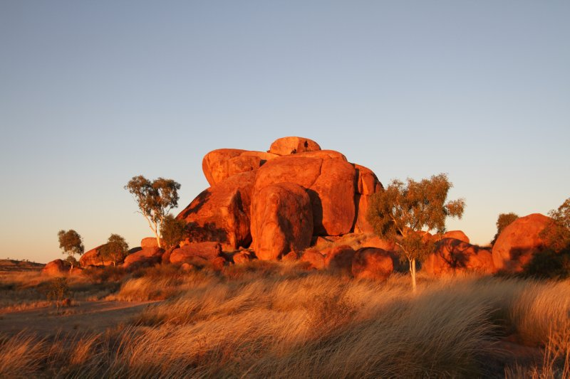 Sunrise at Devils Marbles