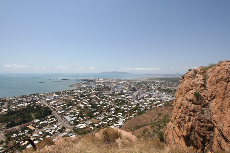 Townsville CBD from Castle Rock