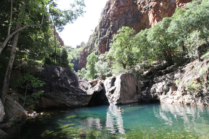 Turquoise pool in Emma Gorge