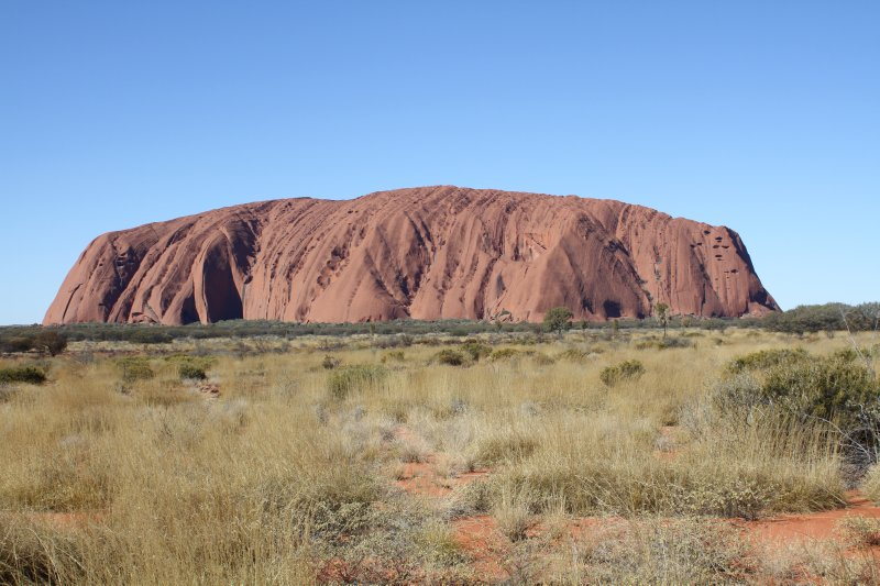 Uluru during the middle of the day