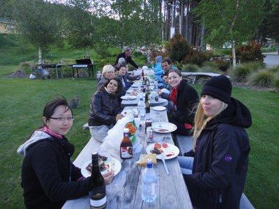 Barbecue am Lake Tekapo... war schweinekalt!