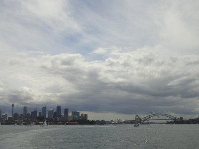 ...on the ferry to Manly