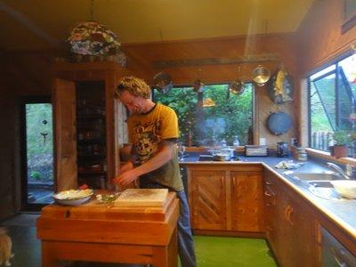 Caleb beim kochen... und das konnte er echt!
