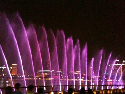 Light & Water Show at Marina Bay