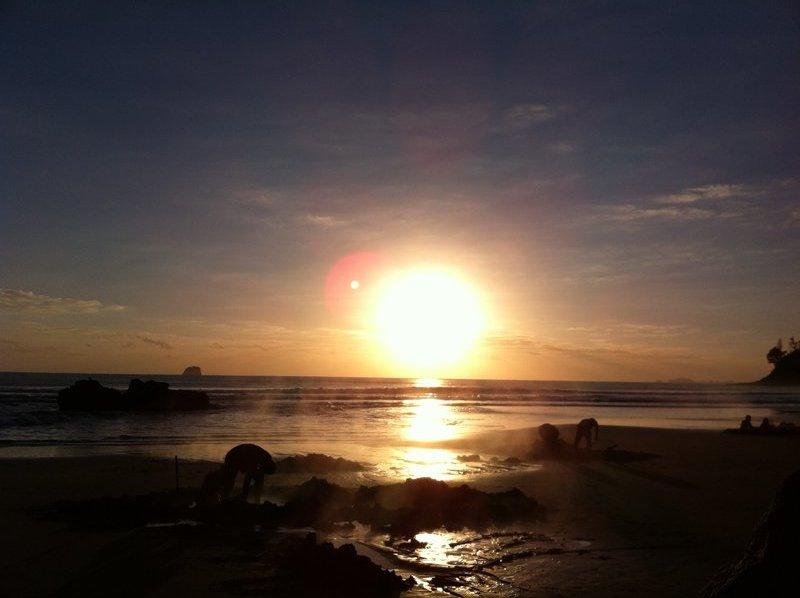Hot Water Beach at Sunrise