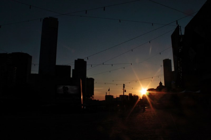 Fed. Square by sunset