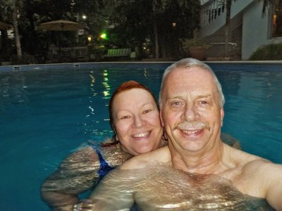 Grete & David in the Pool 5
