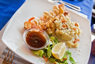 Mixed Seafood Skewer with Sweet Chilli Sauce