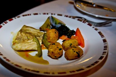 Poached Red Snapper with Garlic Sauce
