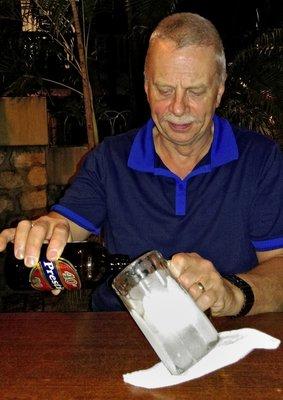 Prestige Beer in Ice Cold Glass