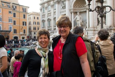 C and Nancy at Trevi Fountain