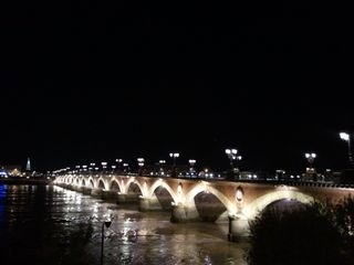 Bordeaux bridge at night
