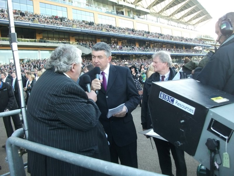 John Parrot broadcasting live to the BBC