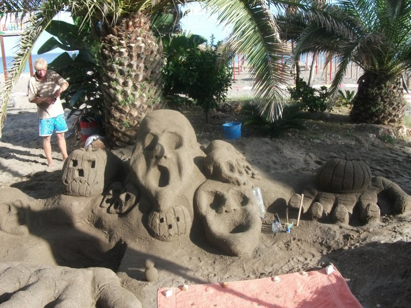 Sand castles for tourists