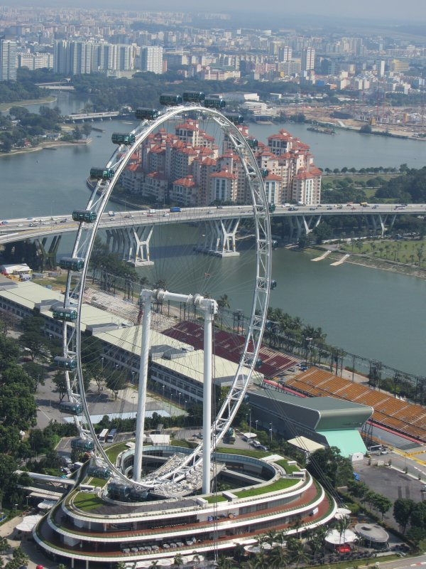 View from the Marina Bay Sands - Singapore Wheel
