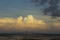 A view of the skyway bridge near Tampa, Florida