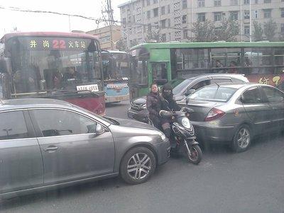 adjusting to the insane traffic jam