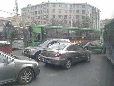 insane traffic jam