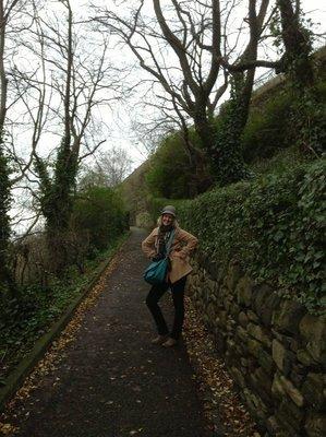 Walking up Carlton Hill