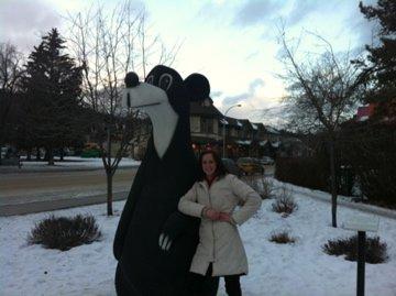 With the town mascot - Jasper Bear