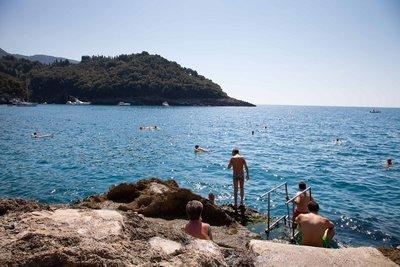 Morning swim in the Mediterranean