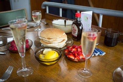 Birthday breakfast feast