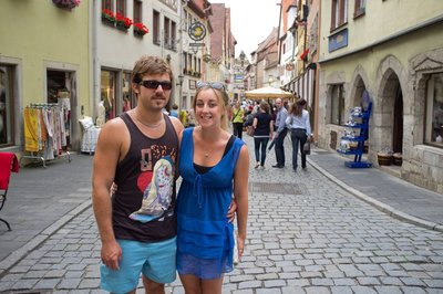 Exploring the towns of the romantic road