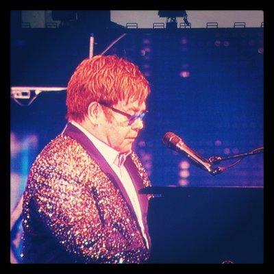 Sir Elton dazzles