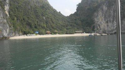 the beach on castaway island