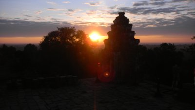 sunrise over 'temple on the hill'