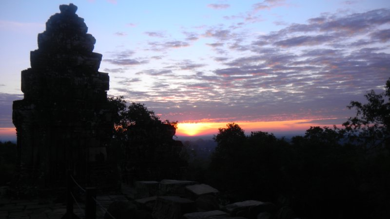 sun rise over the temples
