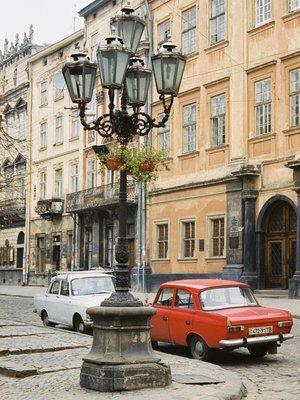 Ladas in the Rynok, Lviv