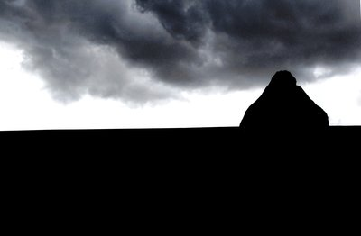 Storm brewing over the megaliths of Avebury, Wiltshire