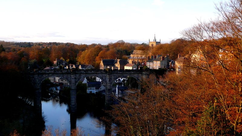 Autmn colours from Knaresborough Castle - overlooking the Nidd