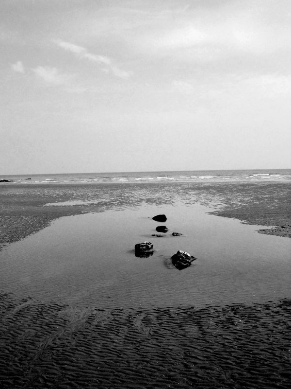 Natural design, English Channel at low tide near St Leonards On Sea