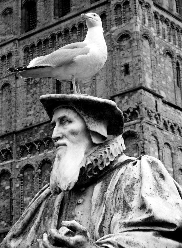 Richard Hooker (1554 - 1600) and herring gull friend