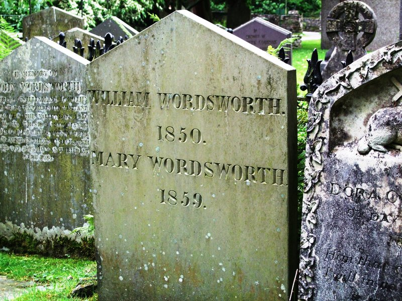 Grave of the poet, William Wordsworth- Grasmere Parish Churchyard (Cumbria)