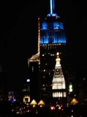 Manhattan building from Brooklyn Bridge