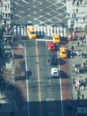 Taxis on Street - From Empire State Bldg - Level 86