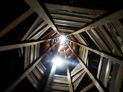 Inside Shot Tower looking down
