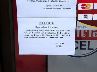 BCE National Day notice