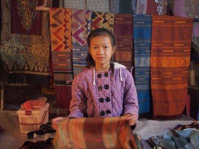 Little girl at night market, Luang Prabang