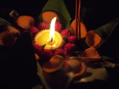 My krathong before release in the river