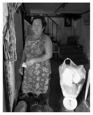 Our laundry lady on Soi 6